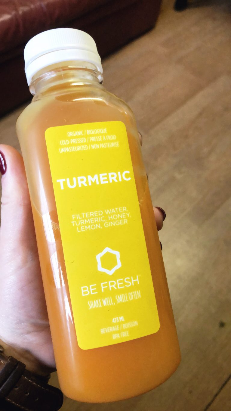 orange turmeric drink for a juice cleanse