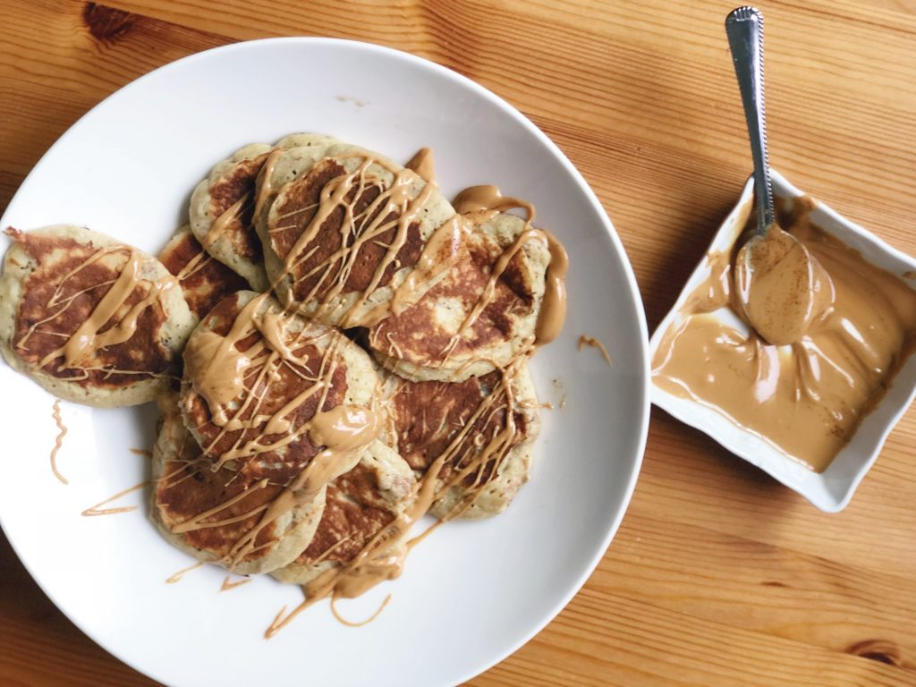 Peanut Butter Drizzle on Pancakes