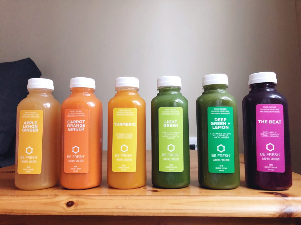 six bottles of juice for a one day juice cleanse