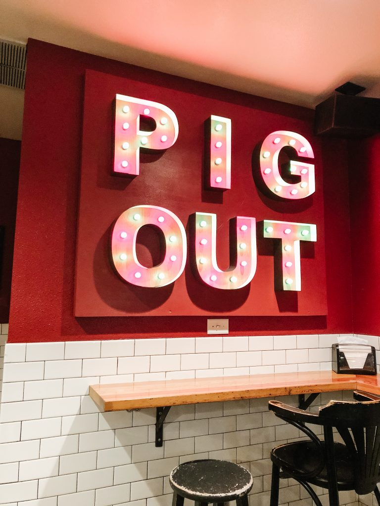 Pig Out Neon Sign