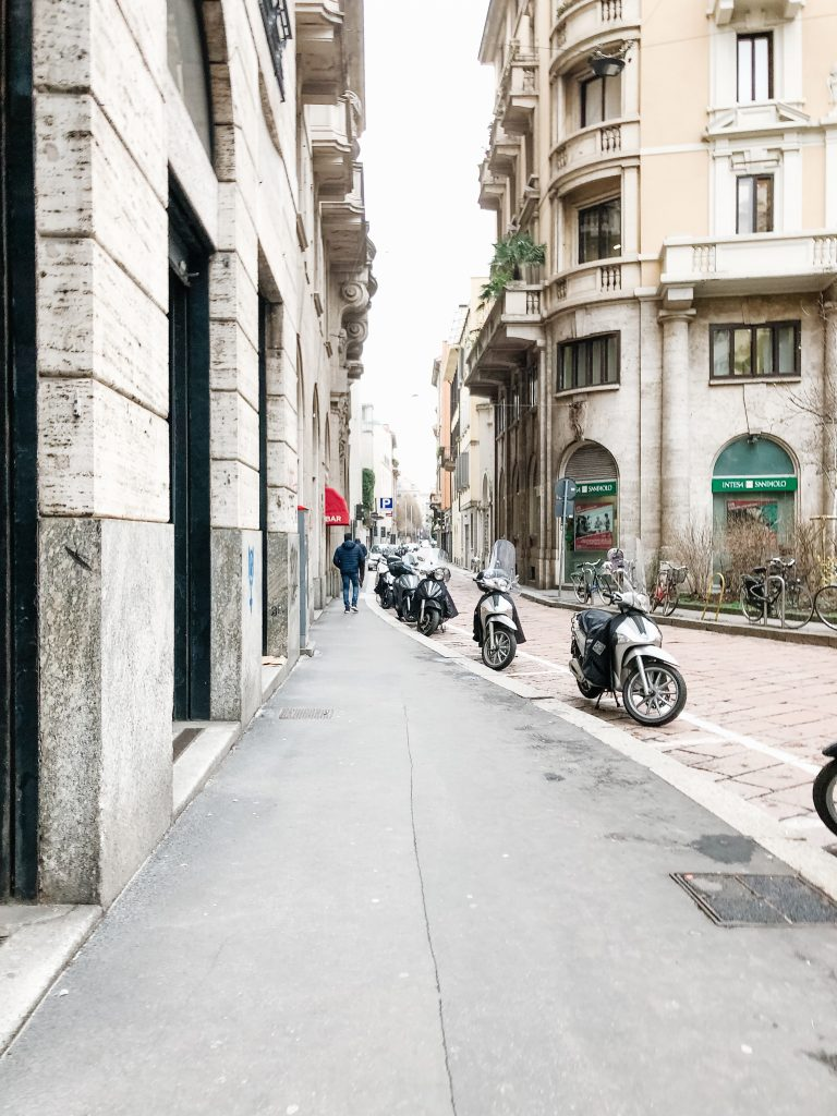 Scooters in Milan Italy