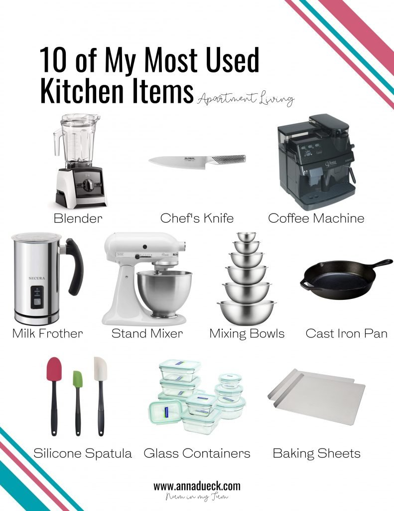 10 most used kitchen items in a picture form